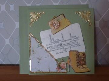 ♥♥Glückwunschkarte rustikal für Frauen-Nr.54
