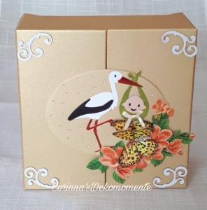 ♥Geschenk~Box zur Geburt oder Taufe für Mädchen oder Junge~Nr.420
