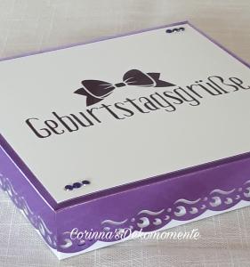 ♥♥Geldgeschenk~Geburtstag~Wunschzahl~lila~Nr.422♥♥