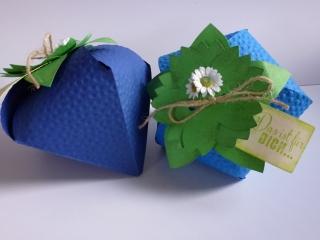 ♥♥2 Geschenkverpackungen-Beeren-Erdbeeren~blau~Nr.341♥♥