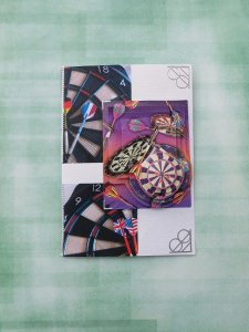 Glückwunschkarte Dart, Spicker, Geburtstagskarte