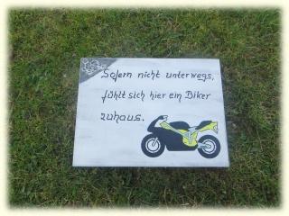 Motorrad- Türschild für Biker, mit Spruch , Motorradschild