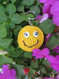 Schlüsselanhänger Smiley ,Taschenbaumler
