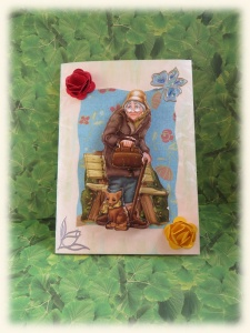 Urige Grußkarte für Rentnerin, Oma, Uroma