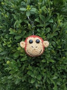 Schlüsselanhänger Affe, Taschenbaumler