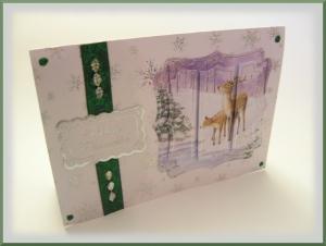 Süße Weihnachtskarte XL,  Winterlandschaft