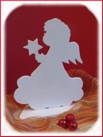 Engel in weiß, Weihnachtsengel, Weihnachtsdeko