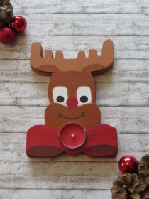 Elch Teelichthalter, Rentier, Kerzenhalter, Weihnachten