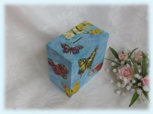 Spardose Schmetterlinge