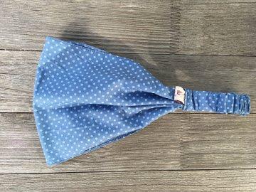 Haarband Pünktchen hellblau auf blau