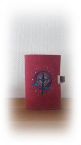 Gotteslobhülle aus Wollfilz Kreuz / Fisch Verschlussvariante 2