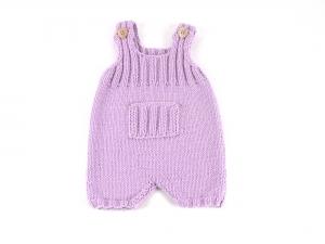 Handgestrickte Latzhose in pink - für kleine Mädchen - aus weicher Wolle (Merino) - ein tolles Geschenk - Größe 62-68 - Handarbeit kaufen