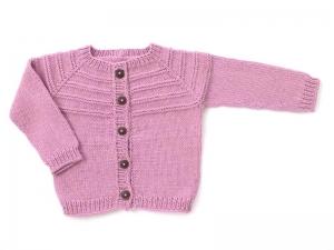 Handgestrickte Babyjacke in pink  - ein tolles Geschenk für kleine Mädchen - Größe 68 - 74  (6 - 9 Monate) - Handarbeit kaufen