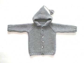 Niedliche Kapuzenjacke für Mädchen und Jungen aus weicher Wolle (Merino) - ein tolles Geschenk
