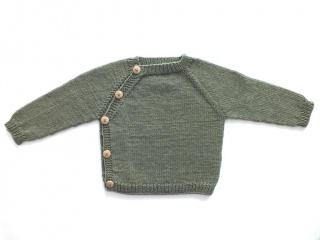 Schlüttli-Pullover in toller Farbe - handgestrickt aus weicher Merinowolle - total praktisch