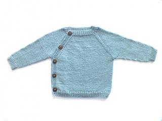 Niedlicher Pullover in toller Farbe - handgestrickt aus weicher Wolle (Merino) - total praktisch