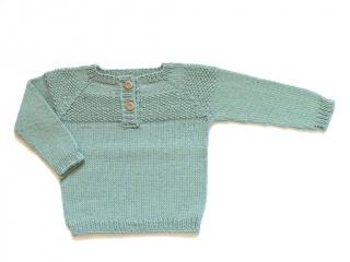 Handgestrickter Babypullover für alle Jahreszeiten  -  ein schönes Geschenk