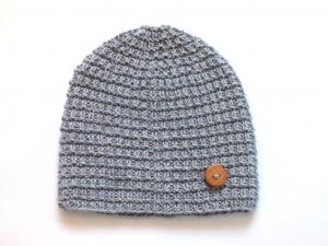 Niedliche Mütze für kleine Mäuse - handgestickt aus weicher Wolle (Merino) - ideal für kalte Tage - KU 40-43 cm - Handarbeit kaufen