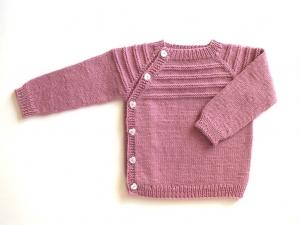 Schlüttli-Pullover in pink für kleine Mädchen - handgestrickt aus weicher Merinowolle - total praktisch