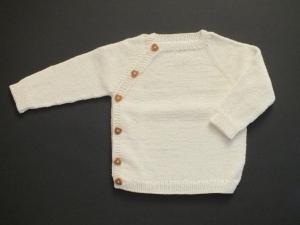 Wunderschöner naturfarbener Pullover - handgestrickt aus weicher Wolle (Merino) - total praktisch
