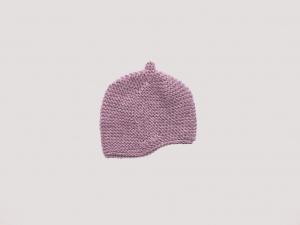 Handgestrickte Wintermütze für Babys aus kuschelweicher Wolle (Merino) - ein tolles Geschenk