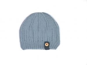 Handgestrickte Mütze für die Kleinen aus weicher Wolle (Merino) in einer tollen Farbe -  KU 43-45 cm