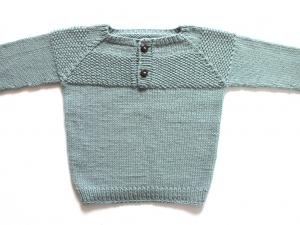 Wunderbarer Pullover für Kleinkinder, handgestrickt aus weicher Wolle (Merino) in einer tollen Farbe - ideal für kühle Tage - Größe 86 - 92. (1 - 2 Jahre)