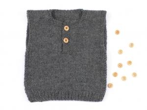 Entzückender handgestrickter Pullunder für kühle Tage - die Kleinen werden sich darin wohl fühlen - Größe 62 - 68