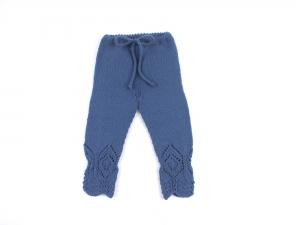 Handgestrickte Leggings für Babys aus wunderbar weicher Wolle (Merino) - perfekt für alle Jahreszeiten - Größe 62 - 68 (3 - 6 Monate)  - Handarbeit kaufen