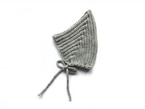 Warme Zwergenmütze in hellgrau aus weicher Wolle (Merino) - super für kühle Tage - KU 40-45 cm (3 - 6 Monate) - Handarbeit kaufen