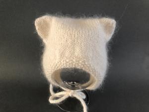 Einfach zauberhaft - wollweiße Babymütze - ein tolles Geschenk - KU 40-43 cm (3 - 6 Monate)   - Handarbeit kaufen