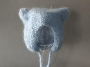 Einfach zauberhaft - Babymütze in blau - ein tolles Geschenk - KU 45-49 cm (6 - 9 Monate)    - Handarbeit kaufen