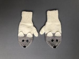 Süße Babyhandschuhe - handgestrickt aus weicher Wolle (Merino) - ein tolles Geschenk für Neugeborene  (1 - 2 Jahre) - Handarbeit kaufen