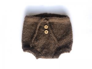 Handgestrickte Windelhose für Neugeborene aus weichem Alpacagarn - ganz bezaubernd  (Größe 56 - 62 = 0 - 3 Monate)    - Handarbeit kaufen