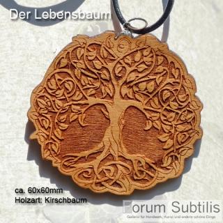 Baum des Lebens - 60mm Holzanhänger
