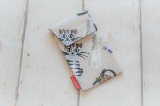 Handytasche Katzen mit Klettverschluss Gr.L