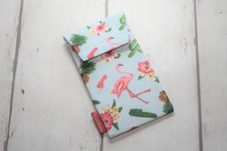 Handytasche Flamingo/Sommer mit Klettverschluss