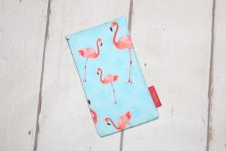 Handytasche Flamingos mit Klettverschluss