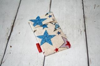 Handytasche bunte Sterne mit Klettverschluss Gr. M  - Handarbeit kaufen
