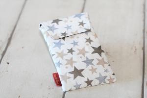 Handytasche Sterne natur mit Klettverschluss Gr.L