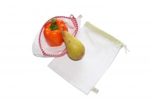 Obstnetz Gemüsenetz 2er Set Gr. S, veggie bags, zero waste - Handarbeit kaufen