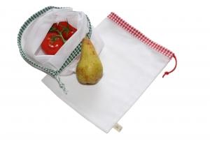 Obstnetz Gemüsenetz 2er Set Gr. M, veggie bags, zero waste - Handarbeit kaufen