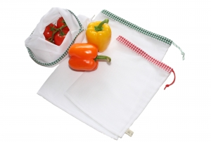 Obstnetz Gemüsenetz 3er Set Gr.L, veggie bags, zero waste - Handarbeit kaufen
