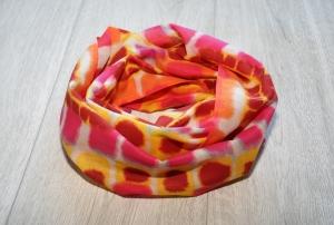Sommer Loopschal mit Batikdruck, Baumwolle - Handarbeit kaufen