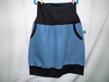 Hüftrock, Jeansrock,Ballonrock,gequem und vielseitig tragbar, 36-46, mit Taschen