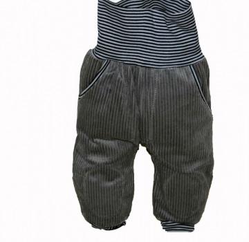 Pumphose, Mitwachshose, cord,Schatzsucher, grau, mit großen Taschen