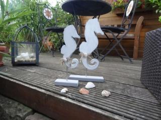Maritimes Seepferdchen Set, aus Holz, 2 teilig