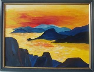 sanftes Stillleben ** Sonnenuntergang am nordischen Meer **