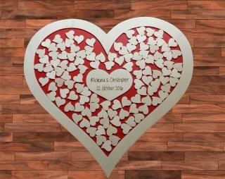 Weddingtree Hochzeitsgästebuch als Herz Einwurfrahmen