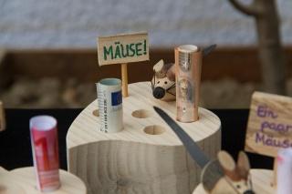 Herz mit EINER Maus aus Holz als Geldgeschenk zur Hochzeit, Geburtstag und andere Anlässe